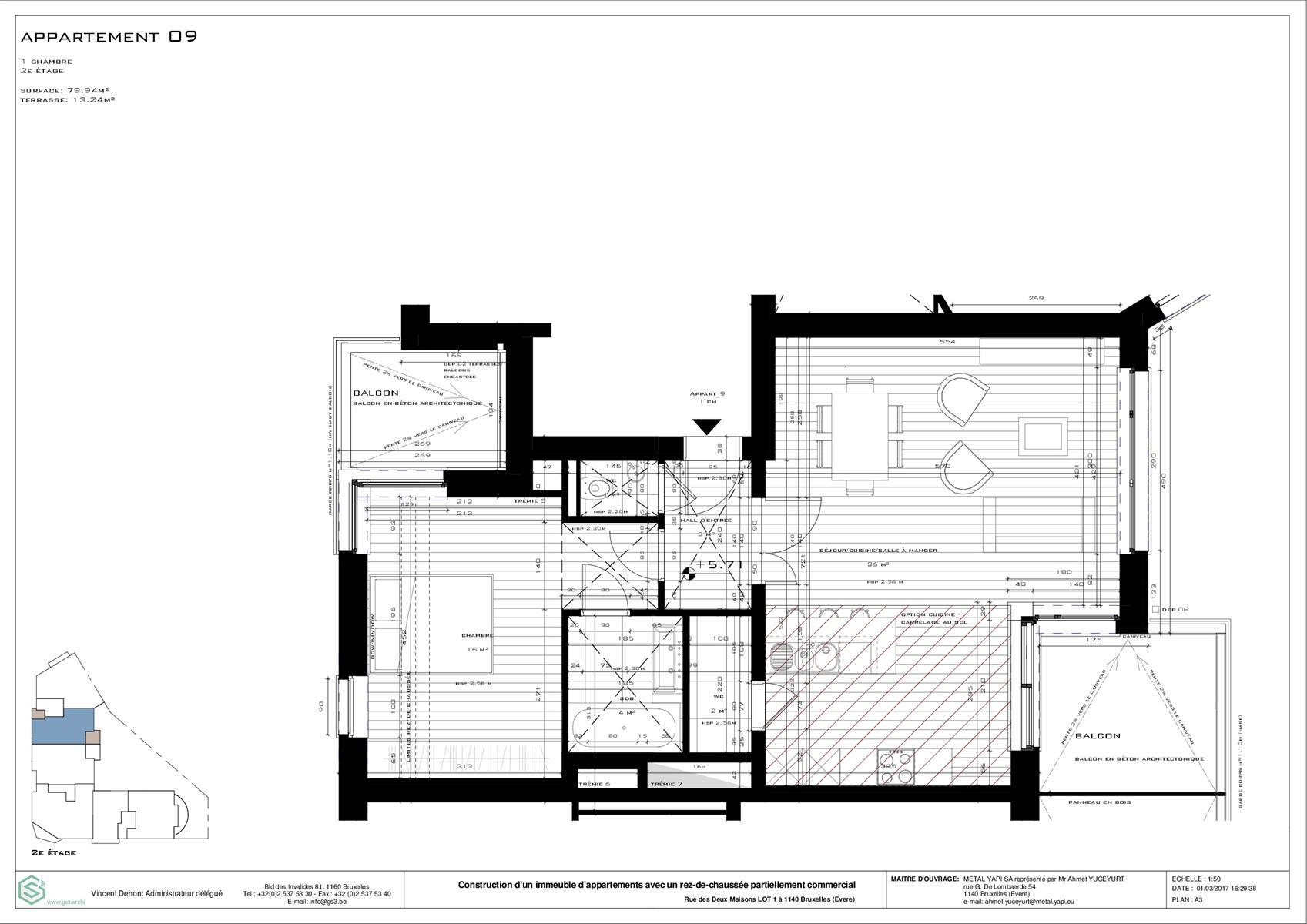 Appartement - Evere - #3999431-0