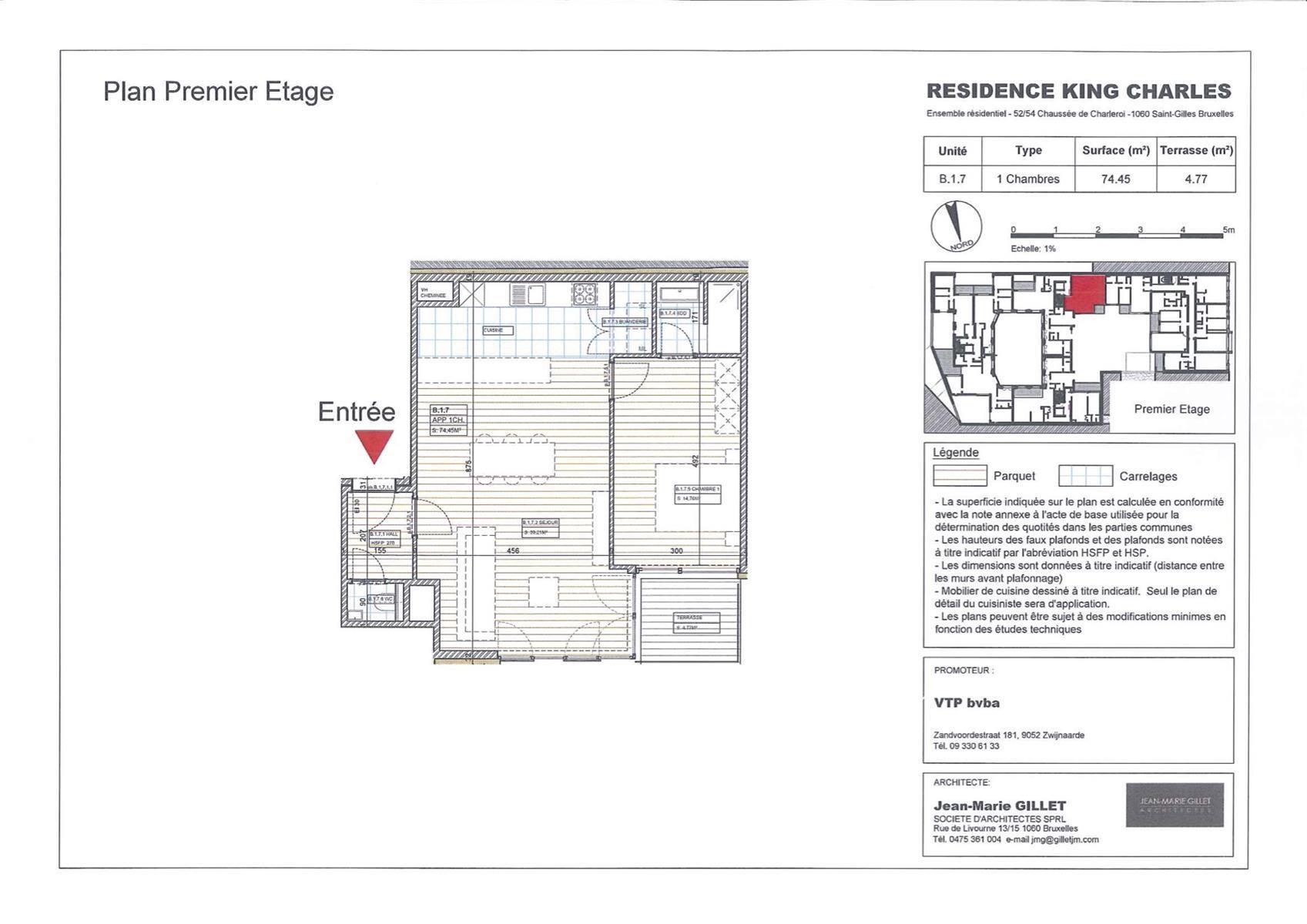 Appartement - Saint-Gilles - #3999454-0