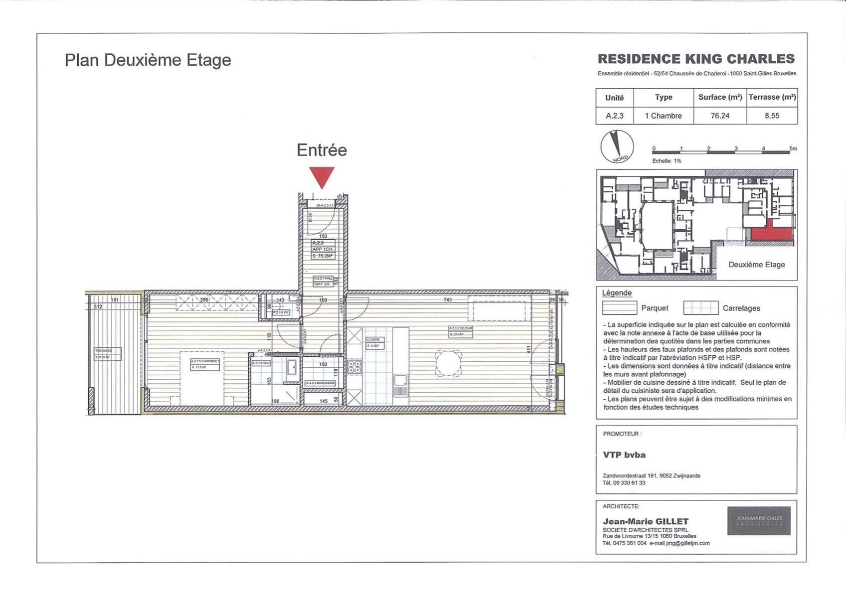 Appartement - Saint-Gilles - #3999456-0