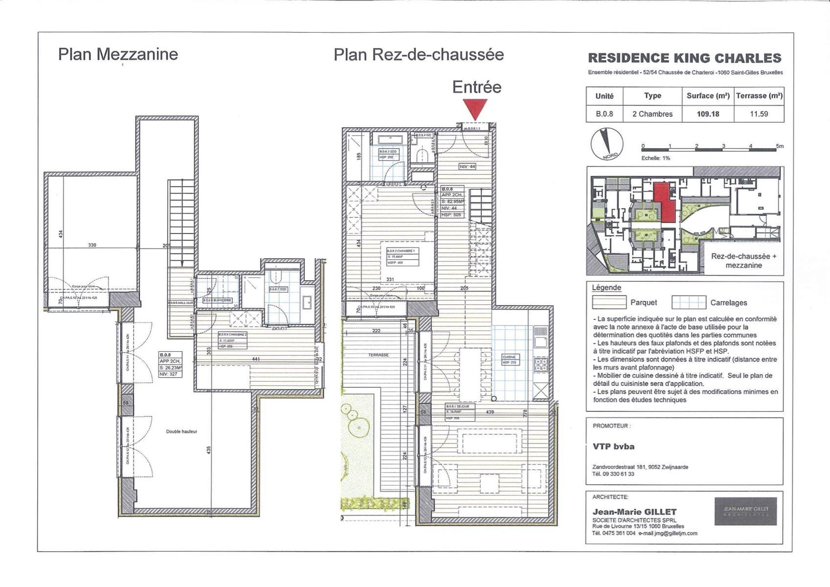 Rez-de-chaussée - Saint-Gilles - #3999475-0
